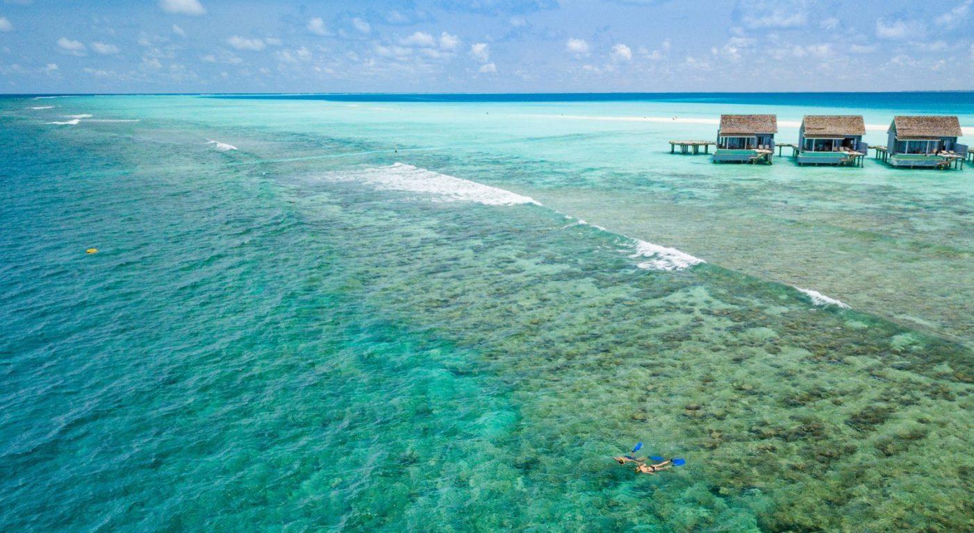Най-добрият риф за шнорхелинг в Kuramathi Resort Maldivi